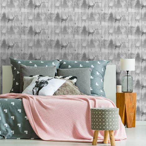 Superfresco Easy Grey Highland Plank Wooden Wallpaper