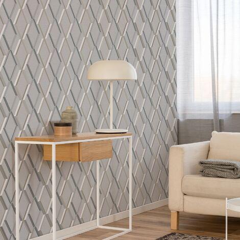 Superfresco Easy Grey Prestige Geometric Wallpaper