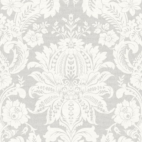 Superfresco Easy Grey Venetian Damask Wallpaper (Was £16)