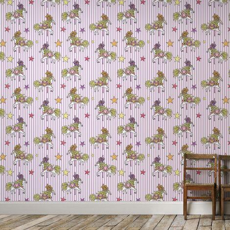 Superfresco Easy Julien Mcdonald Carousel Lilac Horse Wallpaper (Was £15)