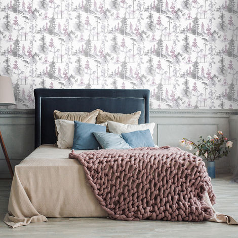 Superfresco Easy Lilac Mystical Forest Floral Wallpaper