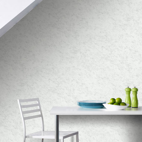 Superfresco Easy Limestone Concrete Effect Silver/Grey Wallpaper (Was £14)
