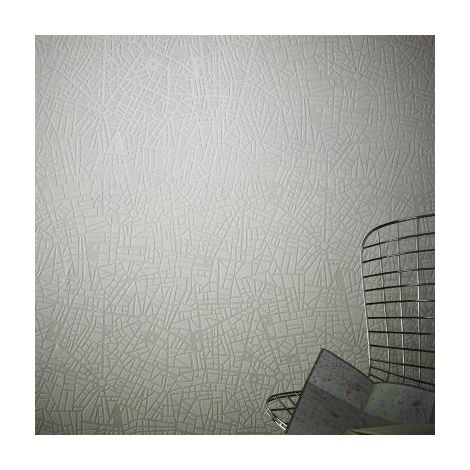 Superfresco Easy Maps Geometric Shimmer White/Mica Wallpaper (Was £17)
