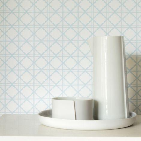 Superfresco Easy Paste the wall Diane Geometric Blue Wallpaper (Was £17)