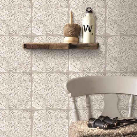 Superfresco Easy Paste the Wall Ny Tile Natural Wallpaper