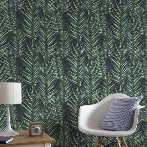 Superfresco Easy Paste the wall Palm Leaf Green Wallpaper (Was £17)