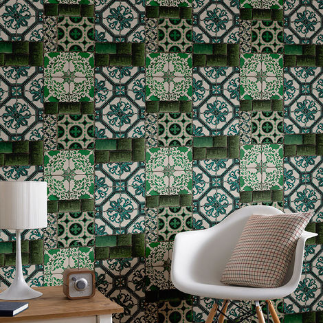 Superfresco Easy Paste the wall Portugese Tile Wallpaper