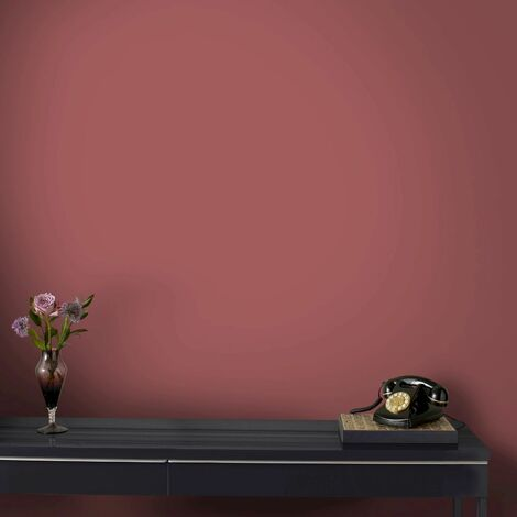Superfresco Easy Paste the wall Textile Red Plain Wallpaper (Was £16)