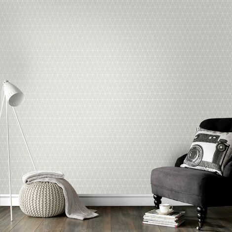 Superfresco Easy Paste the wall Triangolin Geometric Grey Wallpaper