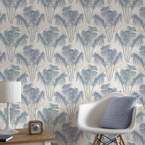 Superfresco Easy Paume Blue Tropical Trail Wallpaper