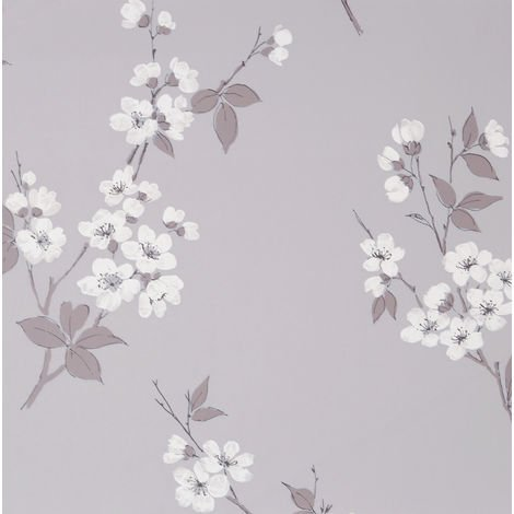 Superfresco Easy Prato Grey Floral Wallpaper (Was £16)