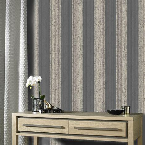 Superfresco Easy Rose Gold Mercury Stripe Wallpaper