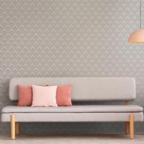 Superfresco Easy Selena Pink Art Deco Wallpaper