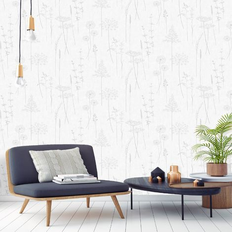 Superfresco Easy Silver Meadow Wallpaper