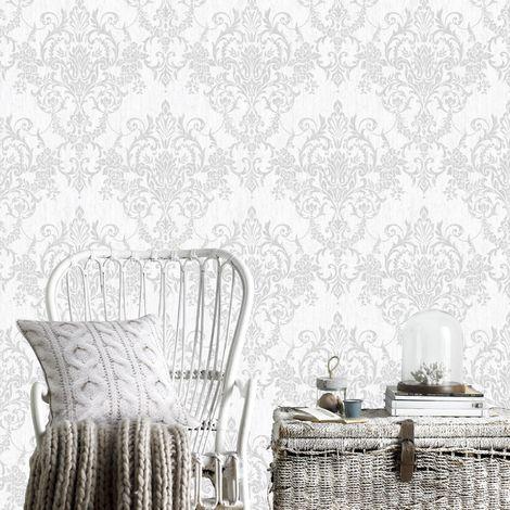 Superfresco Easy Silver Venetian Damask Wallpaper