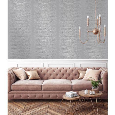 Superfresco Easy Sloane Stripe Textured Grey Wallpaper (Was £17)
