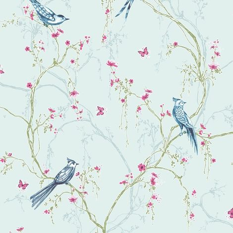 Superfresco Easy Songbird Paste The Wall Duck Egg Wallpaper (Was £17)