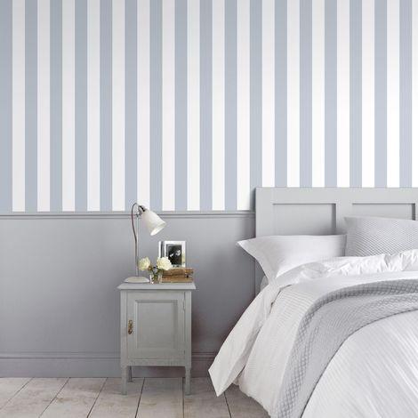 Superfresco Helen Glitter Stripe Lilac & White Wallpaper (Was £16)