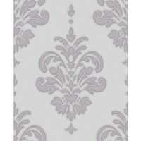 Superfresco Olana Glitter Shimmer Damask Lilac Wallpaper