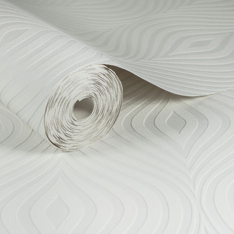 Superfresco Paintable Curvy White Durable Heavy Duty Wallpaper