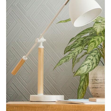 Superfresco Paintable Geometric White Durable Heavy Duty Wallpaper