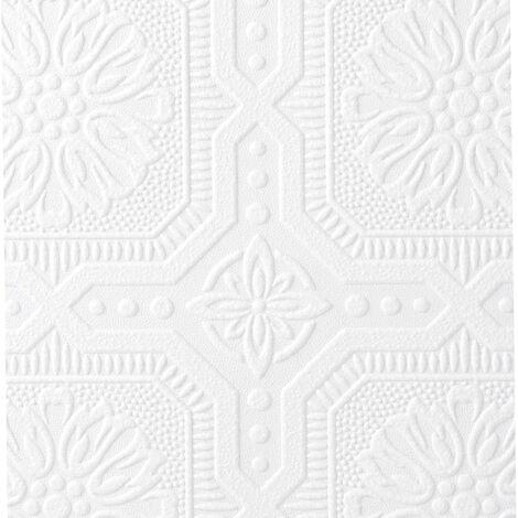 Superfresco Paintable Vintage Small Squares Geometric White Wallpaper