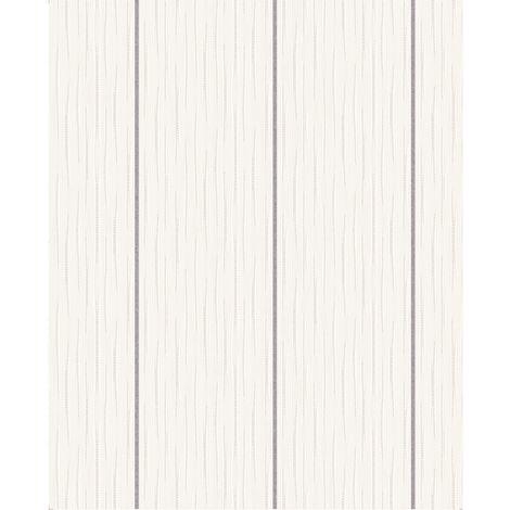 Superfresco Stria Textured Metallic Stripe Lilac / White Wallpaper (Was £16)