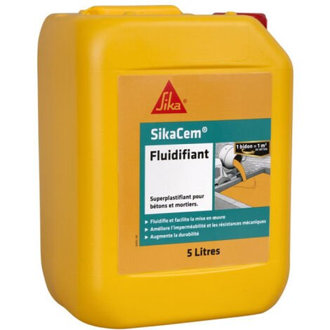 Superlastifiant High Water Reducer SIKA SikaCem Fluidifier - 5L