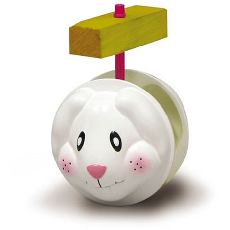 """main image of """"Superpet Rock & Roller Bunny Pet Toy (One Size) (White/Yellow)"""""""