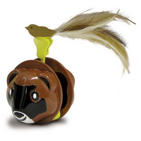 "main image of ""Superpet Rock & Roller Ferret Pet Toy (One Size) (Brown/Black)"""