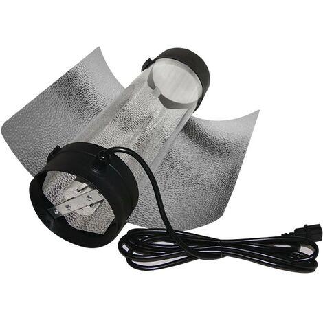 Superplant - Réflecteur cooltube 150mm - Flange en plastique avec câble de raccordement