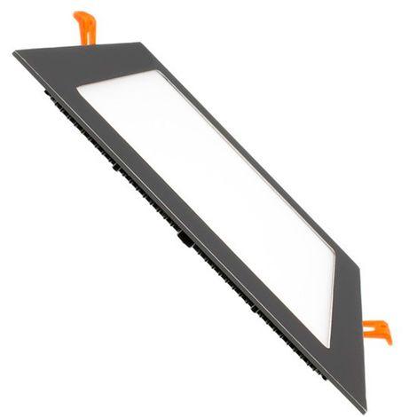 SuperSlim LED Quadrata 12W Nera