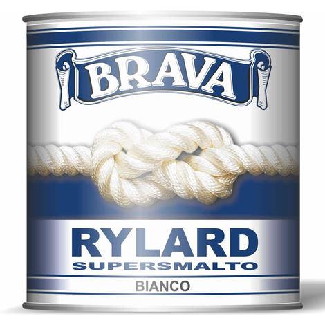 Supersmalto bianco satinato brava rylard ml 750 resistente non ingiallisce