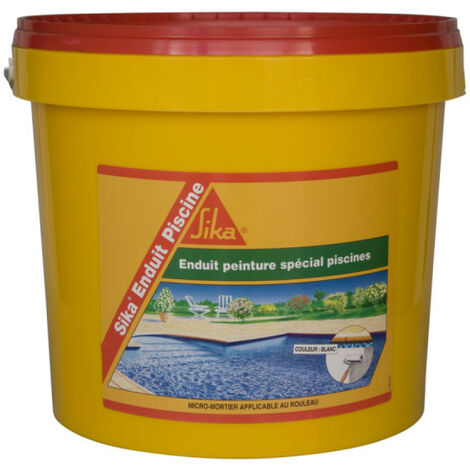 Suplemento impermeabilizante para piscina SIKA Recubrimiento Piscina - Espuma blanca - Kit 18,48kg