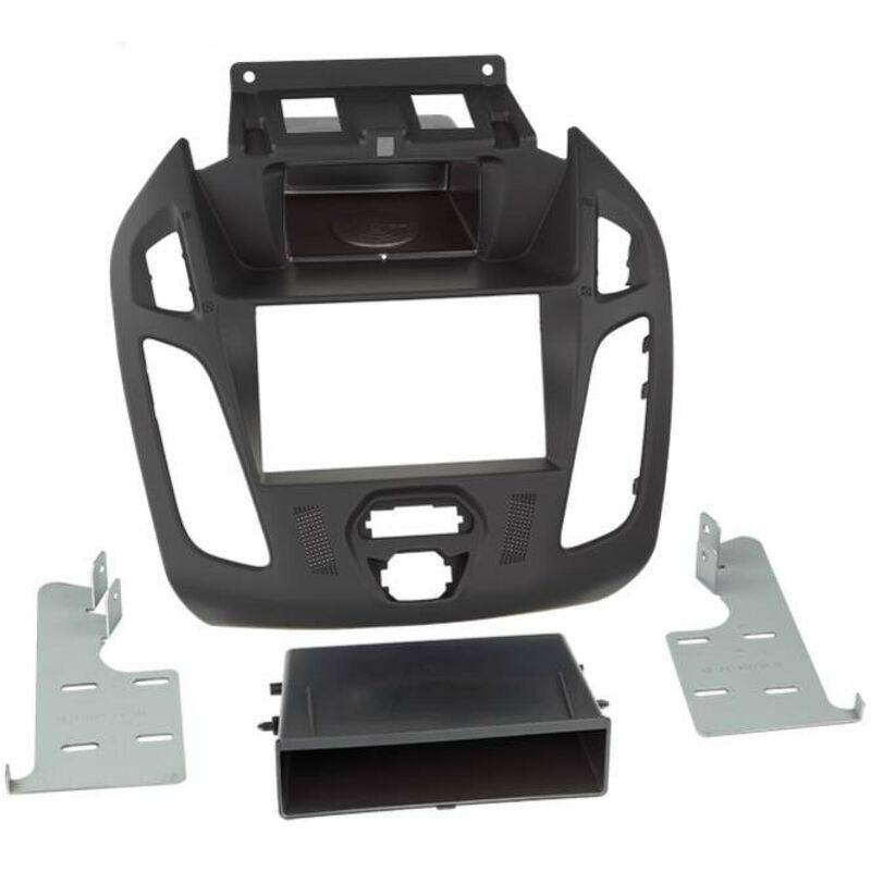 Support 2Din compatible avec Ford Tourneo Transit Connect ap13 Avec vide poche Noir