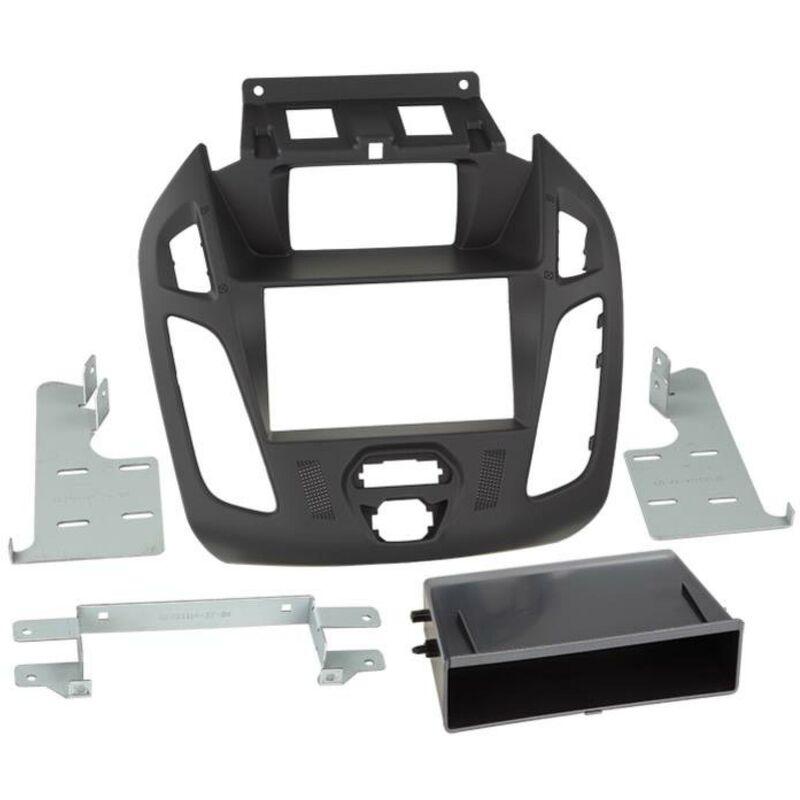 Support 2Din compatible avec Ford TourneoTransit Connect ap13 Avec ecran - vide poche - Noir