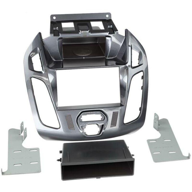 Support 2Din compatible avec Ford TourneoTransit Connect ap13 Vide poche Gris Nebula