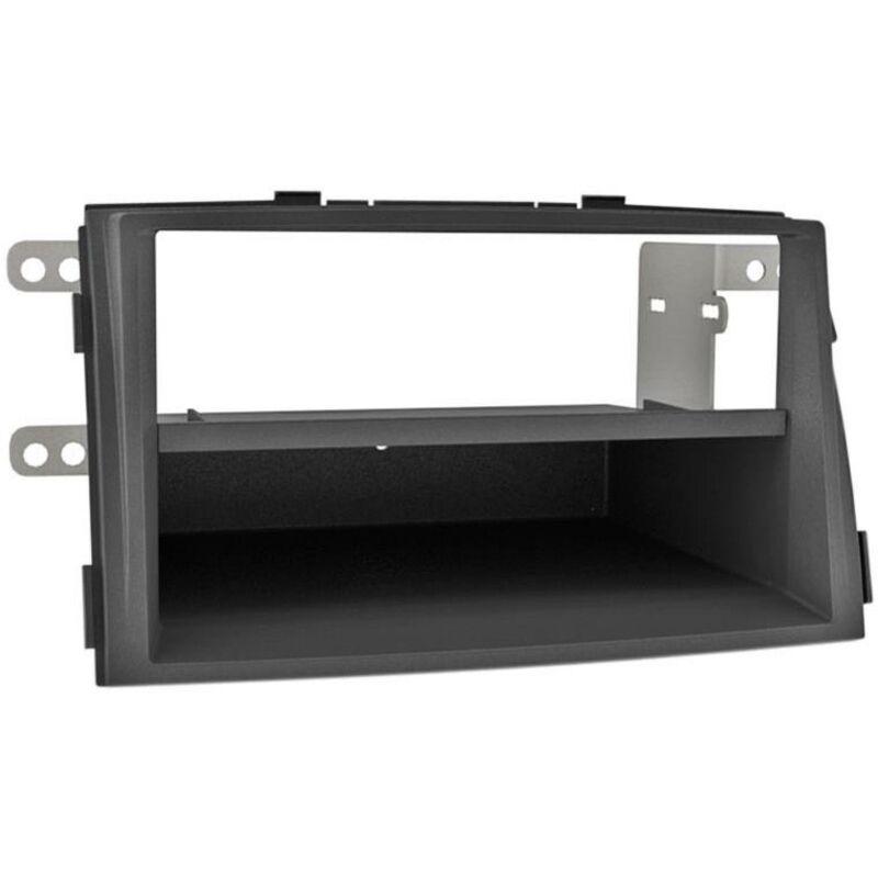 Support 2Din compatible avec Kia Sorento II -XM- ap09 avec vide-poche - Noir