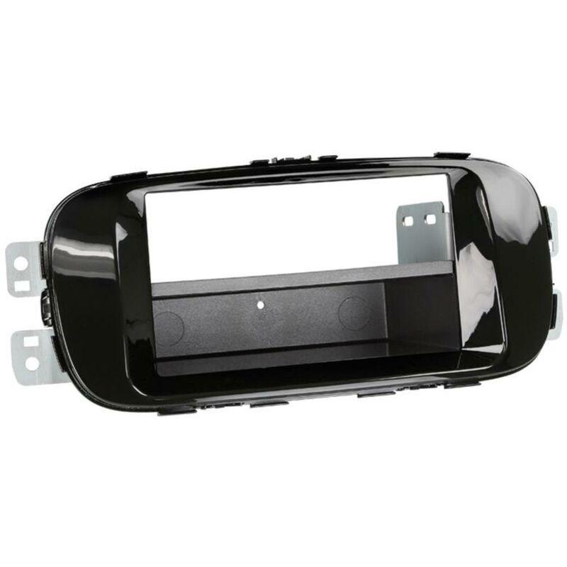 Support 2Din compatible avec Kia Soul ap14 avec vide-poche - Noir brillant