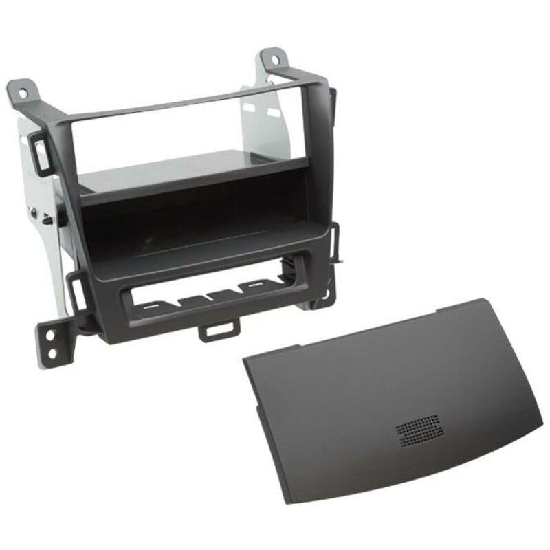 Support 2DIN compatible avec Opel Zafira C avec vide poche - Noir jais