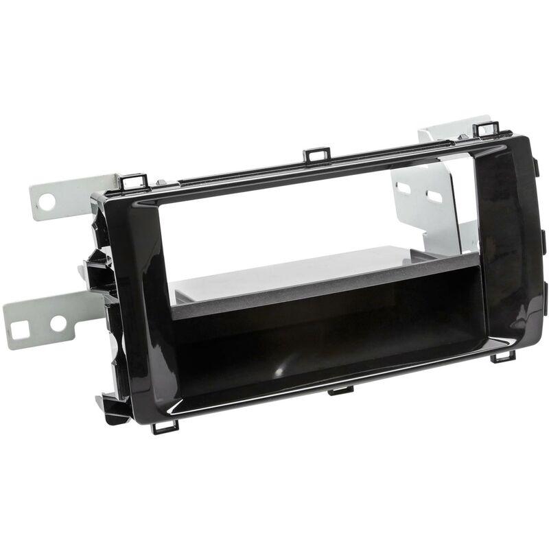 Support 2Din compatible avec Toyota Auris ap13 Avec vide poche - Noir brillant