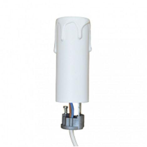 2x E14 Ampoule porte lampe douille en plastique LED Lighting noir bl *FR