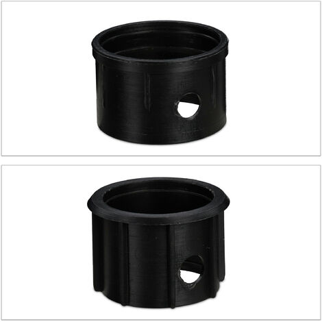 Support à parasol demi-rond, pour des barres de 34-50 mm, résistant aux intempéries, design à fleurs, noir