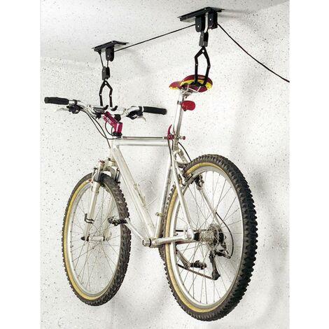 Support à vélo pour plafond Eufab 16411 acier noir