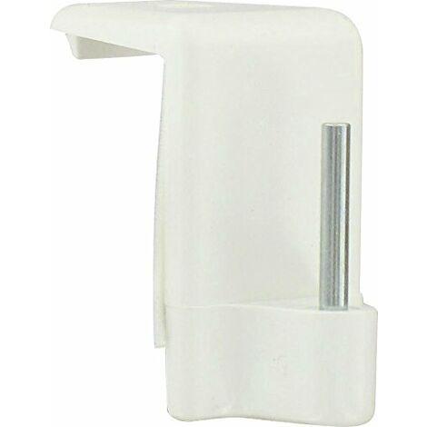 Support adhésif Ateliers 28 - Tringle ovale - Blanc spécial PVC - Vendu par 4
