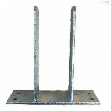 Support - Ancre à fixer en U pour poteau 9x9 cm