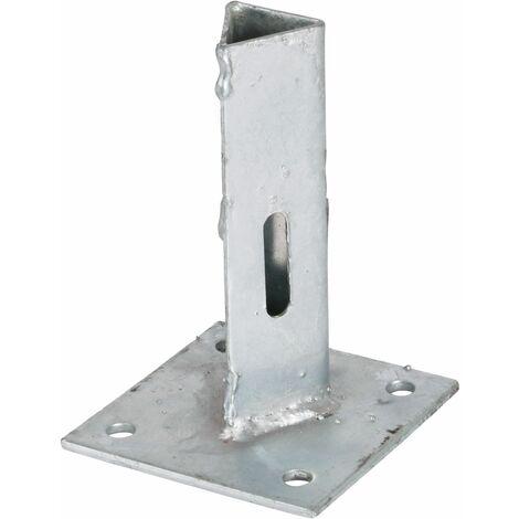 Support - Ancre sur platine à fixer pour poteau Te30