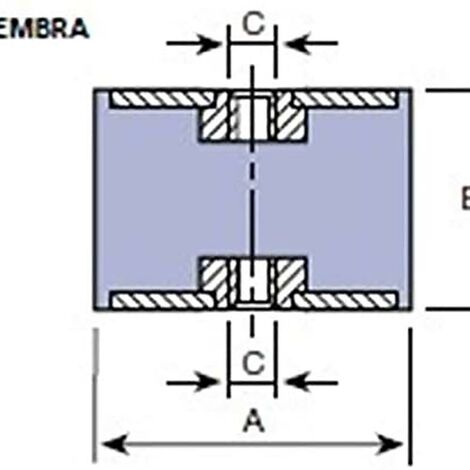 Support Antivibratoire Cylindrique Femelle Support 20X20Mm / M-6 Amc 12 Pz 122023