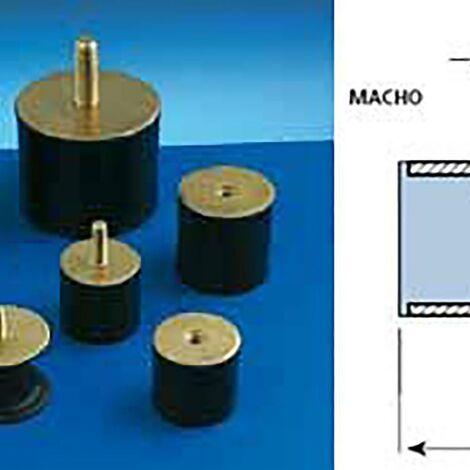 Support Antivibratoire Support Cylindrique Mâle 20X20Mm / M-6 Amc 12 Pz 120023
