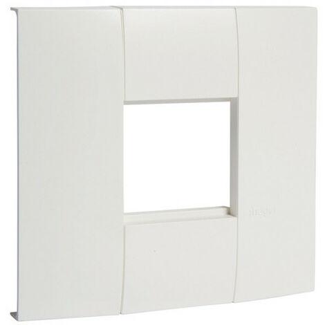 Support appareillage lifea simple entraxe 45x45mm pour LFF40/60110 RAL9010 blanc (LFF71H1109010)